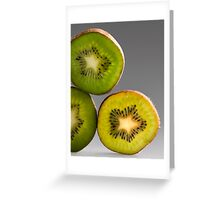 Kiwis green and yellow Greeting Card