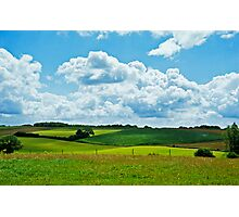 Belgian Field in Spring Photographic Print