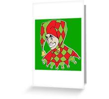Sad Arlequin Greeting Card