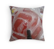 ice cube drink Throw Pillow