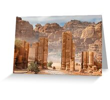 Temenos Gateway in Petra, Jordan Greeting Card