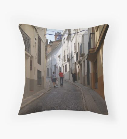 """The Street."" Throw Pillow"