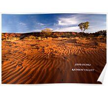 Sand Dunes Rainbow Valley Poster