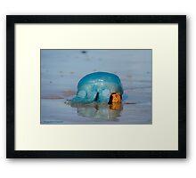 Blue Jellyfish 01 Framed Print