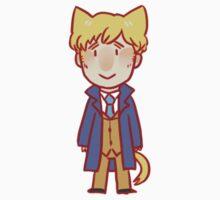 Benedict Cumberbatch cats sticker - Peter Guillam by Zasha Latief