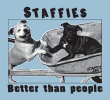 Staffies Better than people One Piece - Short Sleeve