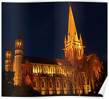 Cathederal at night Poster