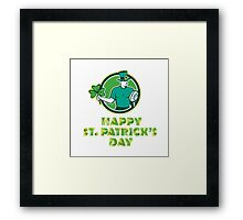 Irish Rugby St. Patrick's Day Framed Print