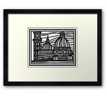 Architecture Art, Architecture Drawing Framed Print