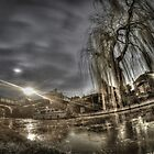 Night shooting in Middlewich along the canals by outlawalien