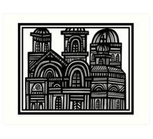 Architecture Art, Architecture Drawing Art Print