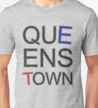 Queenstown Text in Colour Unisex T-Shirt