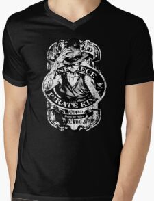 Wanted Pirate King Mens V-Neck T-Shirt