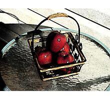Apple Basket Photographic Print