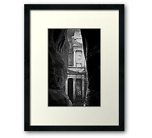 Al Khazneh or The Treasury at Petra Framed Print