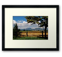 Colorado Flatirons Framed Print