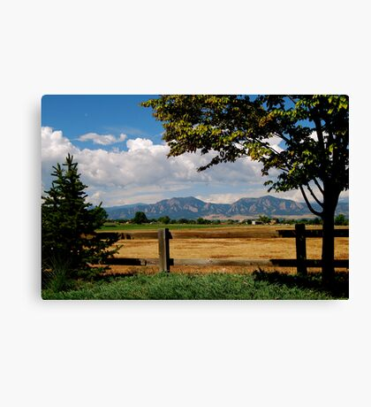 Colorado Flatirons Canvas Print
