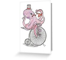 Octopus Hipster Greeting Card