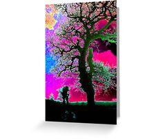 Neon Sky Greeting Card