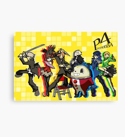 Persona 4 TWEWY style Canvas Print