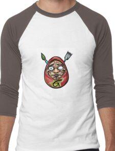 grace tattoo daruma logo Men's Baseball ¾ T-Shirt
