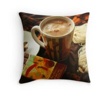 Hazelnut Mocha Throw Pillow