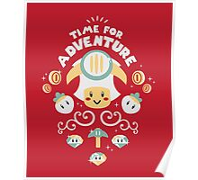 Time for Adventure Toad Poster
