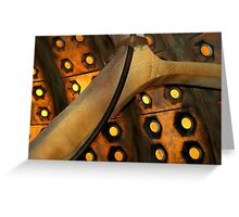 Tardis Wall 10th Doctor Greeting Card