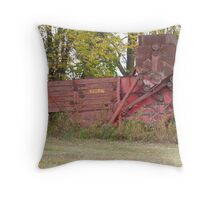 Old Combine Throw Pillow