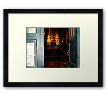 Through the Doors of the Tardis 10th Doctor Framed Print