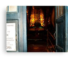 Through the Doors of the Tardis 10th Doctor Canvas Print