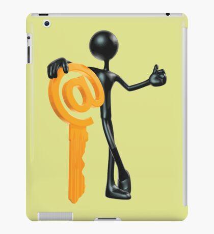 Man with a key - @! iPad Case/Skin