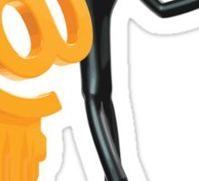 Man with a key - @! Sticker