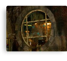 Through the Window of Jacks Office - Torchwwod Canvas Print