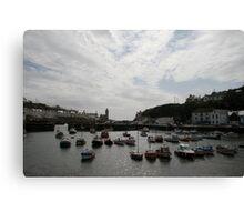 Porthleven Harbour Canvas Print