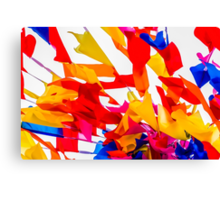 Colorful flags Canvas Print