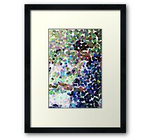 Mikail, guitarist (pointillism abstract) Framed Print