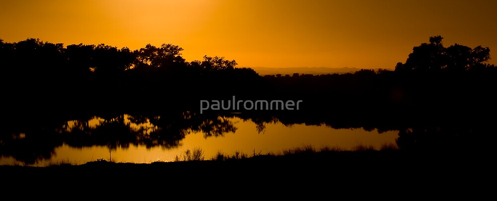 Sunset in the lagoon by paulrommer