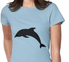 Cute Dolphin Silhouette  Womens Fitted T-Shirt