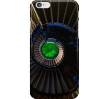 Spiral staircase with green roof glass iPhone Case/Skin