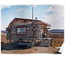 Alaskan Cabin on the Tundra Poster