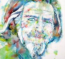 ALAN WATTS - watercolor portrait by lautir