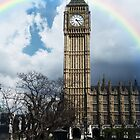 Rainbow Over Big Ben by Nathan Walker