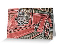 Vintage Fire Engine Greeting Card