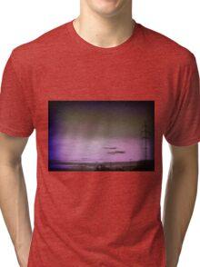 Purple sky.. Tri-blend T-Shirt