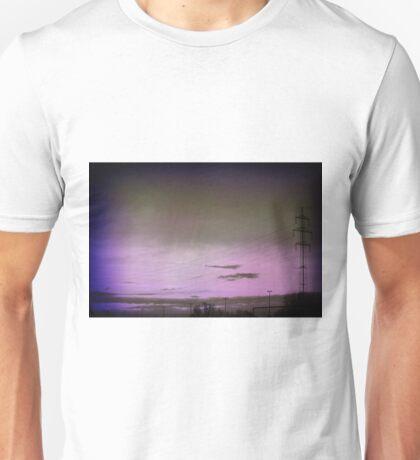 Purple sky.. Unisex T-Shirt