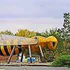 Tisdale Sask's Bee Statue by MaeBelle