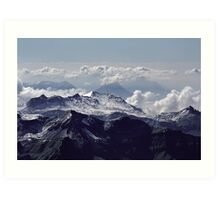 Heavenly view, Bernese Alps Art Print