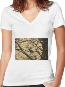 Branches Women's Fitted V-Neck T-Shirt