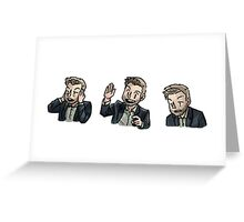 brooker faces Greeting Card